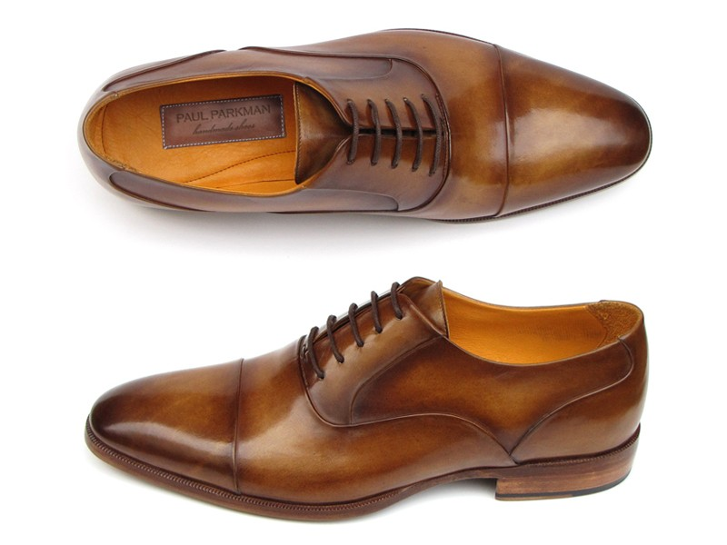 Paul Parkman Cap Toe Oxfords Brown Leather Lloyd Hall