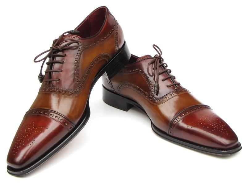Mens Black Painted Shoes