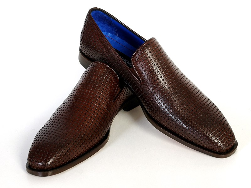 paul parkman brown loafer with leather sole