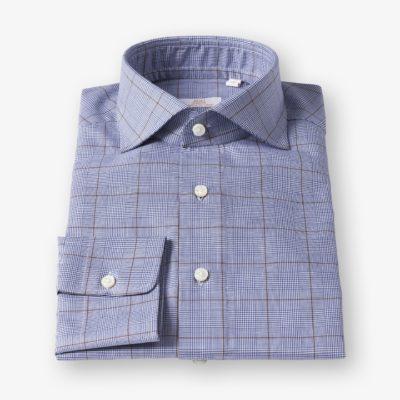 Lloyd Hall Blue Prince Of Wales Check Shirt