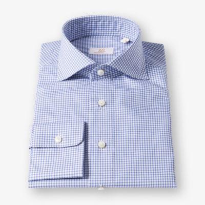 Lloyd Hall Blue and White Gingham Shirt