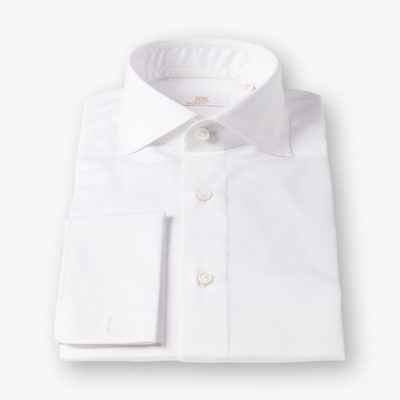 Lloyd Hall White Herringbone Shirt