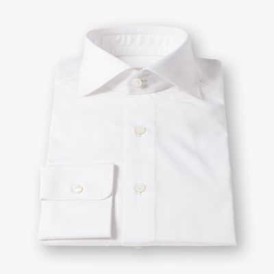 Lloyd Hall White Poplin Shirt Single Cuff