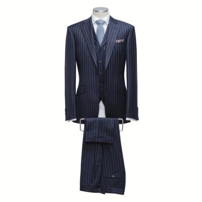Blue Chalk Stripe 3 Piece Suit