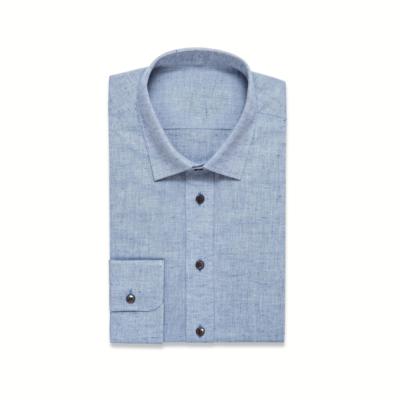 Blue Linen Mix Shirt