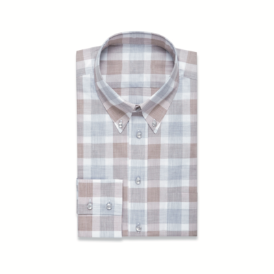 Brown and Blue Check Shirt