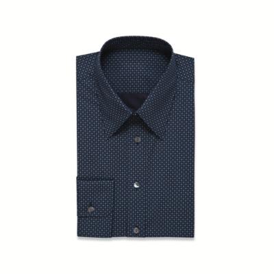 Dark Blue Print Shirt