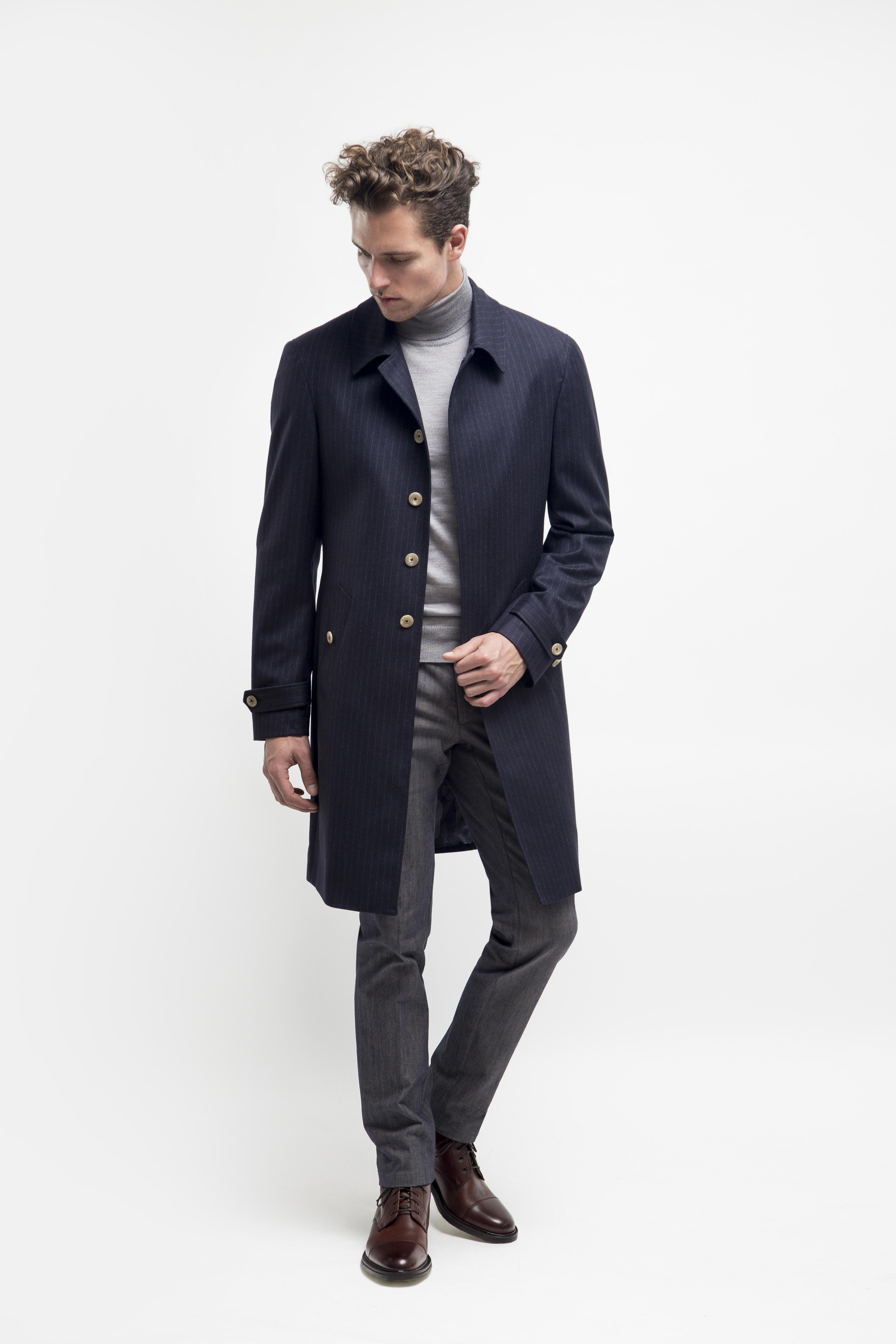 choose clearance how to choose 50% off Mac Rain Coat In Blue - Lloyd Hall Bespoke Menswear