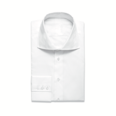 White Shirt Single Cuff High Collar