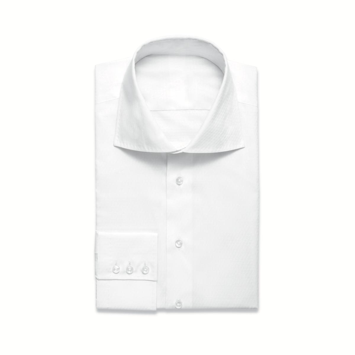 White Shirt Single Cuff High Collar Lloyd Hall Menswear